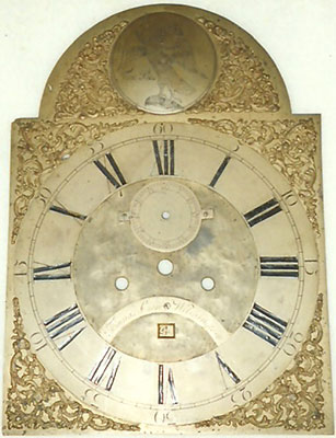 brass dial before restoration
